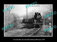 POSTCARD SIZE PHOTO NORWALK OHIO THE NICKEL PLATE RAILROAD 809 TRAIN c1950