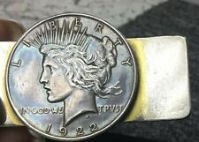 1922 Peace Silver Dollar Vintage Money Clip With Nice Toning