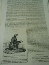 Le feu habitants du Kamtschatka 1847 Gravure Print Article