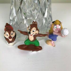 Disney 1992 Mcdonalds PVC  figure figurine x 3 Chip N Dale CHIP DALE GADGET