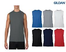 NEW - Gildan Men's Performance Sleeveless Crew Neck T-Shirt -Choose Color & Size