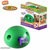 Pop N' Play Interactive Motion Cat Toy Mouse Tease Electronic Pet Toys New