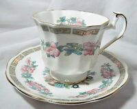 VINTAGE TAYLOR & KENT ELIZABETHAN PATTERN FINE BONE CHINA CUP AND SAUCER