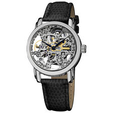 Akribos XXIV Women's Akr431ss Stainless Swiss Automatic Skeleton Watch