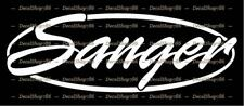 Sanger Boats - Outdoor Sports - Vinyl Die-Cut Peel N' Stick Decal/Sticker