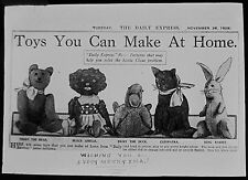 Glass Magic Lantern Slide TOYS YOU CAN MAKE AT HOME DATED 1929 NEWSPAPER ARTICLE