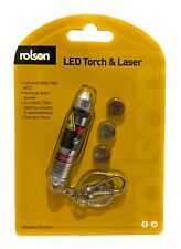 Rolson Led Torch & Laser Pointer Push Button Operation Battery Included