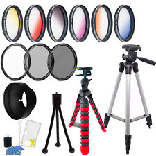 52mm Color Filter + UV CPL ND Accessory Kit Nikon D5300 D5200 D5100
