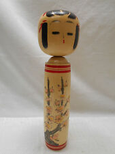 Kokeshi Japanese Doll Vintage Wooden Doll Traditional Style Handpainted #424