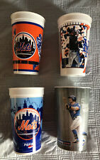 Lot of 4 New York Mets Shea Stadium Stadium Giveaway Sga Souvenir Collector Cups