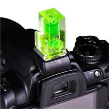Zapata 2 Ejes Doble Burbuja Nivel de Burbuja de Montaje para Cámara SLR DSLR Canon Verde
