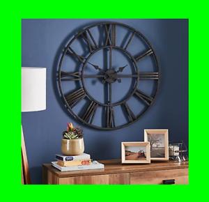 Oversized Skeleton Black Vintage Clock Interior Design Home Creative Gift