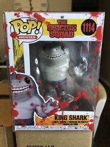 FUNKO POP #1114 KING SHARK VHTF NEW SUICIDE SQUAD MOVIE RARE KING SHARK