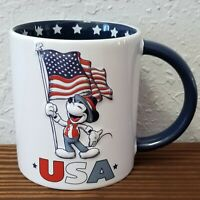 "2020 Disney Parks USA Mickey Mouse Patriotic 4"" Mug American Flag"