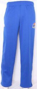 NEW Kansas KU Jayhawks Adidas Blue Warm Up Pants OH Athletic Tie Men's M