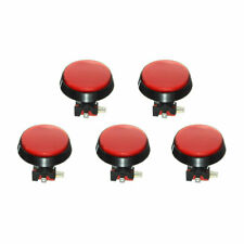 5pcs red led light 60mm arcade video game player push button switch