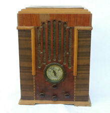 "c.1935 Antique Zenith 808 Tombstone ""Skyscraper"" 5-Tube Radio Wood Cabinet"
