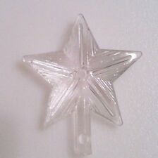 Medium Starburst Clear Star Ceramic Christmas Tree Topper  VINTAGE Lights Bulb