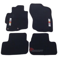 For 08-12 Mitsubishi Lancer 4Dr Black Nylon Floor Mats Carpets 4pcs Front Rear