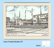 CP AR 59492 CARTE POSTALE DESSIN COULEUR 59 MAUBEUGE