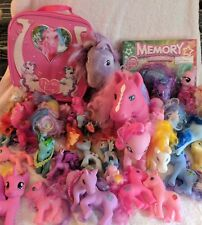 My Little Pony Large Lot 36 Ponies + Game and Carrying Case Good Condition