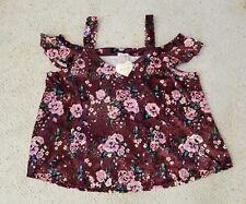 NWT Self Esteem Rose Velvet  Shirt Size 3X Retail $42