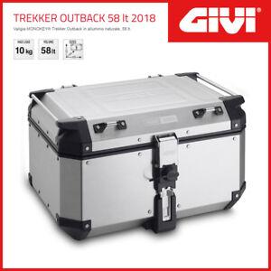 VALIGIA [GIVI] MONOKEY TREKKER OUTBACK 58 LT 2018 UNIVERSALE - ARGENTO - OBKN58A