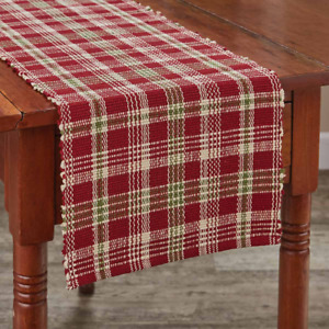 """Park Designs HOLLY BERRY 13""""x 36"""" Christmas Table Runner - Cranberry, Green, Tan"""