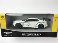 Braha Bentley Continental GT3 1:24 Scale Friction Car White ship out fast new