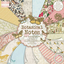 48 SHEET FULL PACK BOTANICAL NOTES 8 x 8 CARD MAKING SCRAPBOOKING CRAFT PAPER