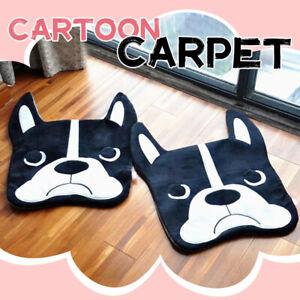 56X40cm Cartoon Bulldog Plush Bedroom Floor Mat Dog Cute Animals Toy Carpet Gift