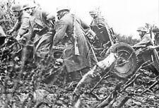 1930s-40s (6 x 4) Repro German RP- Army- Soldiers Push ATG- 37mm Anti Tank Gun