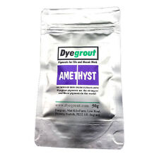 50 grams - Amethyst Grout Pigment for Mosaics Cement Dye by Dyegrout