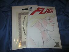 THE FLASH #1 Original JESSIE QUICK Art Sketch by Billy Tucci ~Blank Variant/DC