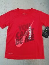 Nike Boys Dri Fit Shirt Red Size 4 You Can't Be Me Graphic NWT
