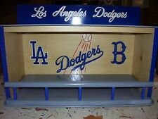 """LA Dodgers display case for bobbleheads  Dugout style  with Blue """"B"""""""