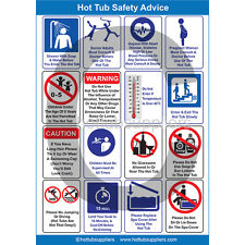 Glossy A4 Commercial Hot Tub Safety Poster FREE P&P | HTS