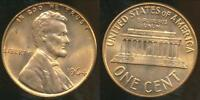 United States, 1964 One Cent, Lincoln Memorial - Uncirculated