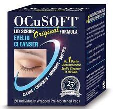 ocusoft ORIGINAL couvercle Gommage Blepharitis serviettes (x20)