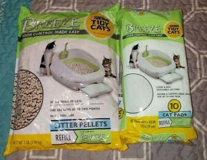 Breeze Litter Pellets 7 Lbs + Cat Pads 10 Pack (Purina Cat Litter - Tidy Cats)