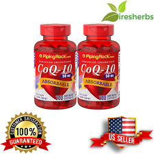 ABSORBABLE COQ10 50MG REDUCE CARDIAC RISK HEART BLOOD AID SUPPLEMENT 400 CAPSULE