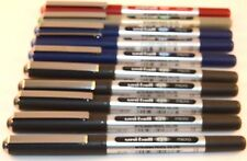 10 X UNI-BALL EYE MICRO UB-150 ROLLERBALL PEN 0.5MM 5 BLACK 3 BLUE,1 GREEN,1 RED
