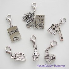 Sweet Treats Baking Charm Theme Gift Set fit Clip on Charm Bracelet