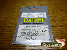 15 x DAIICHI 4640 #16 HEAVY JIG 60 DEGREE NYMPH FLY HOOK NEW FLY TYING MATERIALS