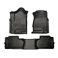 Husky Weatherbeater Floormats Front/Rear 14-15 Chevy Silverado Double Cab 98241