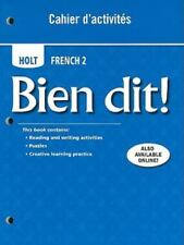 Holt French 2 Bien Dit! Cahier d'activities Student Edition Level 2 BRAND NEW
