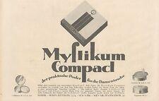 Y4201 MYSTIKUM Compact - Parfumerie Scherk - Pubblicità d'epoca - 1925 Old ad