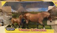 NIB Breyer 65001 Mealy Dartmoor Pony light bay foal (haflinger mold) Reissue