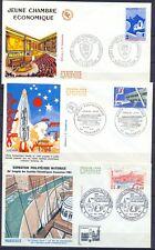 FRANCE 3 ENVELOPPES 1.er jour YT 1942-1936-2273 / Obliterés / TBE