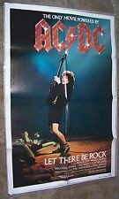 1982 Vintage Ac-Dc Promotional Poster Let There Be Rock